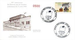 SAINT PIERRE & MIQUELON. N°597 Sur Enveloppe 1er Jour (FDC) De 1994. Droit De Vote Des Femmes. - FDC