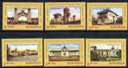 ROMANIA 2006 Centenary Of National Exhibition Set Of 6  MNH / **.  Michel 6077-82 - 1948-.... Republics