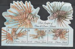 PITCAIRN ISLAND,  2015, MNH, FISH, LIONFISH, FISH-SHAPED S/SHEET - Vissen