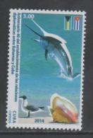 DIPLOMATIC RELATIONS WITH THE BAHAMAS, 2014, MNH, BIRDS, SHELLS, FISH, FLAGS,1v - Vissen