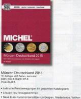 MICHEL Münzen Deutschland 2015 Neu 27€ D DR Ab 1871 III.Reich BRD Berlin DDR Numismatik Coin Catalogue 978-3-95402-107-9 - Material Y Accesorios