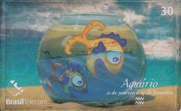 BRAZIL(Brasil Telecom) - Zodiac/Aquarius, 04/01, Used - Zodiac