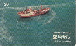BRAZIL(Sistema Telebras) - Antarctic, Oceanographic Ship, 06/97, Used - Boats