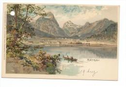 CPA Illustrateur Edward Theodore Compton: Pertisau-Lithographie - Pertisau