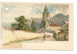 CPA Illustrateur Edward Theodore Compton:hall In Tirol Der Munzerturm-Lithographie - Innsbruck