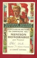 FTIR-06 MILITARIA Société Suisse Carabiniers,Tir Par Sections 1937.Mention Honorable  Résultats Détaillés Au Dos.Blasons - Vieux Papiers