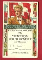 FTIR-12 MILITARIA Société Suisse Carabiniers,Tir Obligatoires 1936.Mention Honorable 119 Points. Blasons. Carabine. - Non Classés