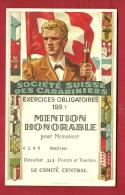 FTIR-13 MILITARIA Société Suisse Carabiniers,Tir Obligatoires 1937.Mention Honorable 113 Points. Blasons. Carabine. - Non Classés