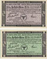 Deutschland, Germany - Set 4 X Reichslotterie 1941 - 42, UNC ! - Lotterielose