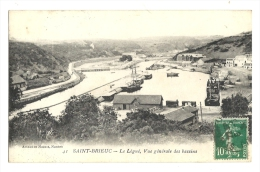 Cp, 22, Saint-Brieux, Le Légué, Vue Générale Des Bassins, Voyagée 1924 - Saint-Brieuc