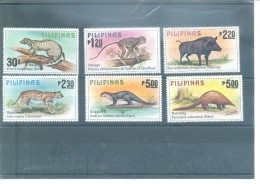MAMÍFEROS-FILIPINAS 1121/1126 (6V)   1979 MICHEL - Filipinas