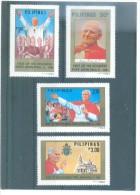 FILIPINAS VISITA DEL PAPA  1213/1216  (4V) 1981  MICHEL - Filipinas