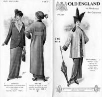 -  Très Beau Dépliant De Mode Bien Illustré , été 1914 - OLD ENGLAND - 003 - Mode