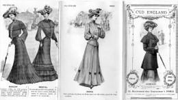 -  Très Beau Dépliant De Mode 8 Pages Bien Illustrées , Hiver 1903-1904 - OLD ENGLAND - 012 - Mode