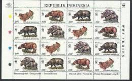 WWF Indonesia BF-16 1673 Rhinoceros Neuf** Sans Charniere - W.W.F.