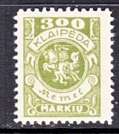 MEMEL  N 24   * - Memel (1920-1924)