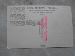 Italia   Venezia - Ponte Di Rialto - Publicitaria Hotel Marconi   D127865 - Venezia