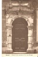 ARCHITECTURE - ANVERS / ANTWERPEN : Porte De La Maison N°5, Rue Rouge. CPA Peu Courante. - Antwerpen