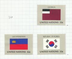Nations Unies (NY) N°711, 714, 715 Neufs Avec Charnière Côte 3.75 Euros - New York - Sede Centrale Delle NU