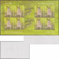 Bosnie Herzégovine 2006 Y&T 536. Feuillet Non Dentelé, Spécimen.  Lièvre D'Europe (Lepus Europaeus) - Lapins