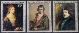 BB 505  REP DU NIGER  XX  YVERT NRS LP 68/70 ZIE SCAN - Timbres