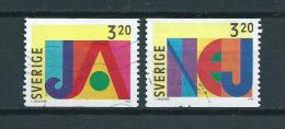 1994 Sweden Complete Set Greetings Used/gebruikt/oblitere - Zweden