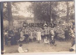 GRANDE PHOTO ANCIENNE - RONQUEROLLES AGNETZ 60 OISE - FETE DU 99 EME INFANTERIE - MILITAIRES - DEPART ORIENT - Photos