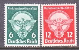 GERMANY  490-91   ** - Unused Stamps