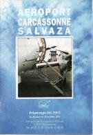Aéroport Carcassonne Salvaza 1993 - Horaires