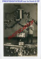 PRESTIDIGITATEUR Militaire-MAGICIEN-ILLUSIONNISTE-Zauberkünstler-2x Cartes Photos Allemandes-Guerre 14-18-1 WK- - Guerra 1914-18