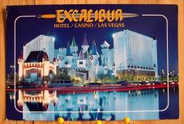 HOTEL CASION EXCALIBUR BY NIGHT A MEDIEVAL FANTASYLAND LAS VEGAS SCAN  R/V - Las Vegas