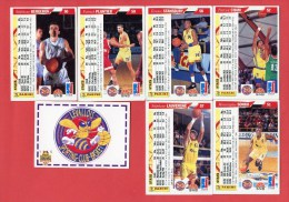 Levallois - Panini - Lot 5 Cartes Basket - LNB 1995 - Sport