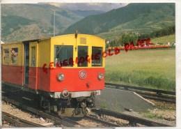66 - SAILLAGOUSE - CHEMIN DE FER DE LA CERDAGNE- CROISEMENT DES TRAINS 8235 ET 8236 EN JUILLET 1974- LIGNE LATOUR CAROL - Francia