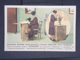 FRANCE- CARTE POSTALE PUBLICITAIRE MACHINE A COUDRE SINGER  BEZIERS  A VOIR  LOT P2454 - Publicité