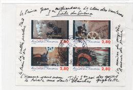 Bloc Feuillet N° 17 - 4 Timbres Oblitérés - 1° Siècle Du Cinéma   (76236) - Blokken En Velletjes