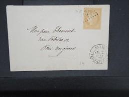 FRANCE - N° YVERT 59 SEUL SUR LETTRE ( PETITE ENVELOPPE)DE PARIS POUR PARIS 1872      A VOIR LOT P2457 - Postmark Collection (Covers)