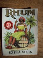 RC MONS :TRES BELLE ETIQUETTE DE RHUM DU LE CGA - Rhum