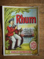 RC MONS :TRES BELLE ETIQUETTE DE RHUM   DES MAGASINS CGA - Rhum