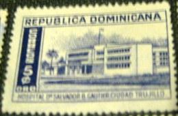 Dominican Republic 1952 Dr Salvador B Gautier Hospital Ciudad Trujillo 5c - Used - Dominican Republic