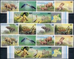 Rwanda 1986. Michel #1346/53 A+B. MNH/Luxe. Animals (TS20) - Stamps