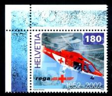 """SVIZZERA / HELVETIA 2002** - Elicottero """"Rega"""" - 1 Val. MNH Come Da Scansione - Elicotteri"""