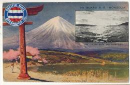 S.S. Mongolia Pacific Mail Steamship Co Paquebot Fuji Yama March 14 , 1906 Golden Gate San Francisco - Mongolia