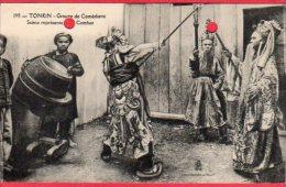 CPA VIETNAM Viet Nam  TONKIN Groupe De Comédiens Scène Reprentant Un Combat (  Comedians - Viêt-Nam