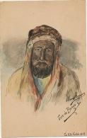 Art Card Artist Hand Made Color By Solange Bougeret Type De Beduin August 23, 1919 - Emirati Arabi Uniti