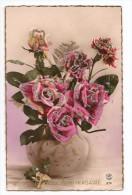 HEUREUX ANNIVERSAIRE Carte Avec Paillettes  Pot Fleuri - Anniversaire