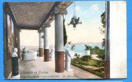 AVR139, Souvenir De Corfou, Villa Imperiale, Le Peristyle, Statues, Non Circulée - Grèce