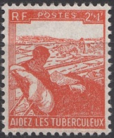 Timbre De France 1945  ' Yvert  736** MNH  '  2 F. + 1 F.  Au Profit Des Tuberculeux - Francia