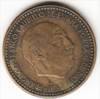 ESPAÑA 1953 .ESTRELLAS 19-54    1 PESETA  .MBC . CN4183 - [ 5] 1949-… : Kingdom