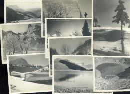 Lot De 9 Cpa Carte Photo De Suisse Vaud Circa 1930 - -  édition Perrochet Matile Lausanne JA15 52 - VD Vaud