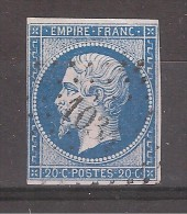 Empire N° 14 A Obl Pc  1034 De LE CREUSOT, Saone Et Loire, TB - 1853-1860 Napoléon III